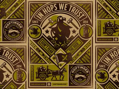 Hoptinger hoptinger hops craft beer beer illustraion icon wip