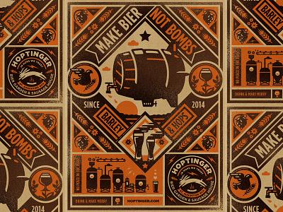 Hoptinger II hoptinger hops craft beer beer illustraion icon wip