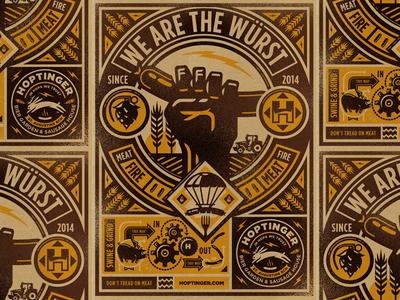 Hoptinger III hoptinger hops craft beer beer illustraion icon
