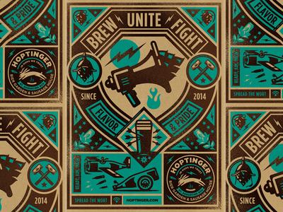 Hoptinger IV hoptinger hops craft beer beer illustraion icon