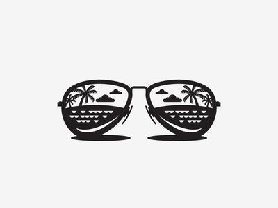 Icon II icon sunglasses island life wip bw