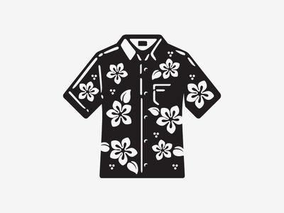 Icon V icon shirt casual friday island life wip bw