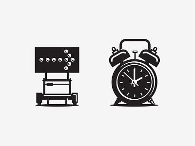icon illustration detour clock icon
