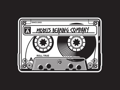 Modus Bearing Company black and white punk apparel skateboarding 80s mixtape modus