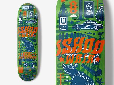 Real Skateboards - Ishod Wair overlay color icons illustraion skateboarding deck real skateboards
