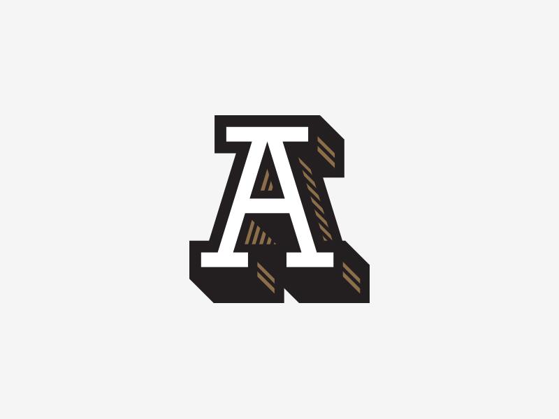 A type 3d letter a