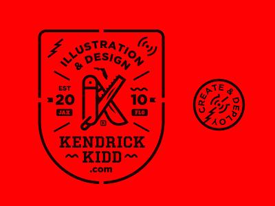 Branding k branding badge