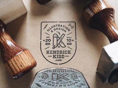 Stamp kendrick kidd stamp badge process branding illustration wip