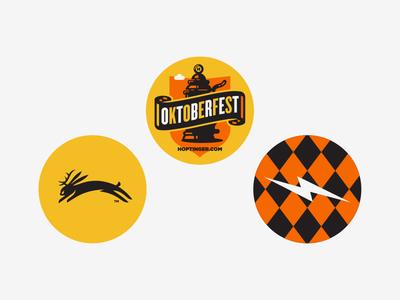 Oktoberfest III poster illustration design oktoberfest hoptinger beer