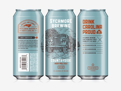 Beer Can III north carolina art direction countryside label design can sycamore brewing