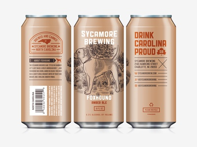 Beer Can IV label sycamore brewing north carolina can foxhound craft beer beer