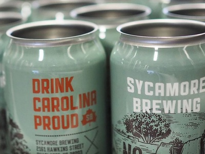 Beer Can V north carolina art direction southern girl label design can sycamore brewing