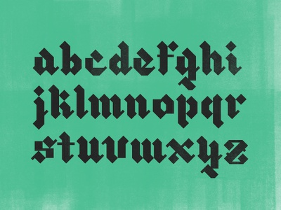 Blackletter XI exploring color texture lettering lowercase blackletter