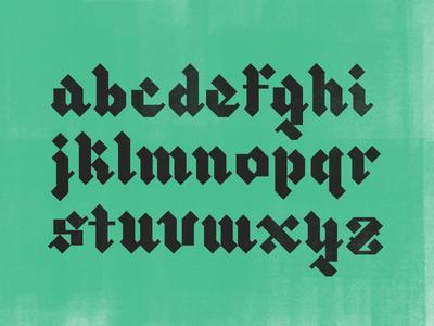 Blackletter XI exploring color texture lettering lowercase blackletter