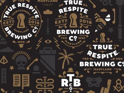 True Respite Brewing Company II carft beer beer shepherd branding true respite