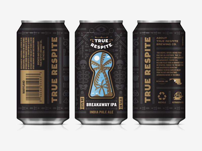 True Respite Brewing Company III packaging can label carft beer beer shepherd branding true respite
