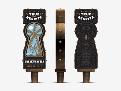 True Respite Brewing Company IV tap handle carft beer beer shepherd branding true respite