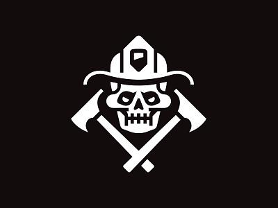 Skull patch skull fireman illustration