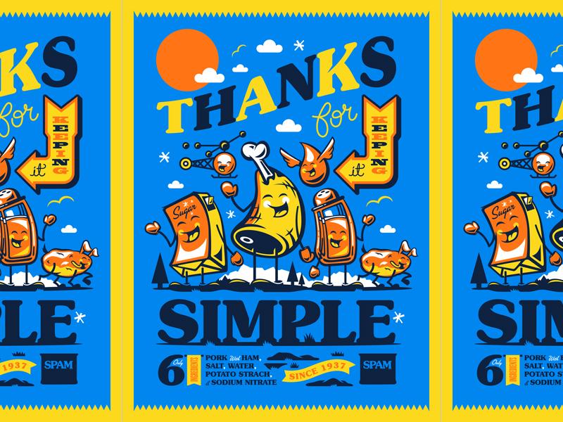 Illustration halftone def bbdo poster spam illustration
