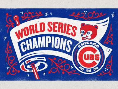 World Series II mural illustration world series cubs chicago right way signs