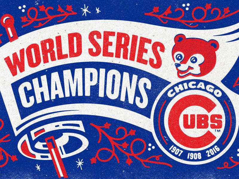 Rightwaysigns illustration chicago cubs worldseries 2016 kendrickkidd