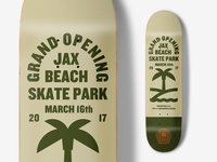 Deck wip skateboarding jacksonville beach monoline illustration