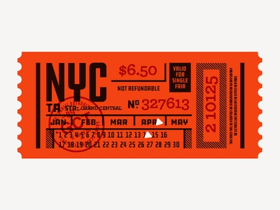 Illustration III lost type ddc hardware subway nyc ticket