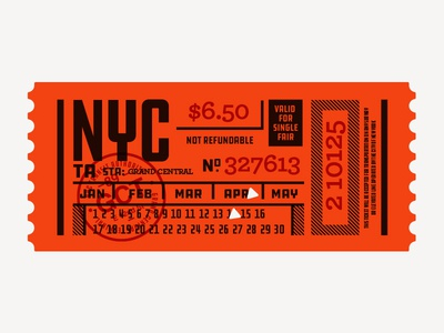 Illustration III lost type ddc hardware subway nyc ticket