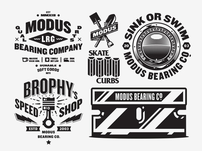 Apparel illustration apparel skateboarding modus bearings type