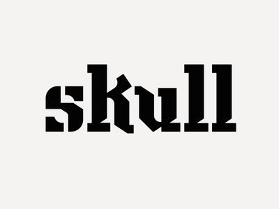 Lettering VII lowercase skull l u k s type lettering