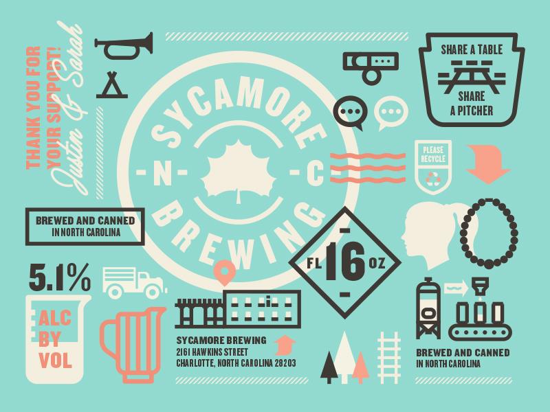 Branding sycamore brewing beer packaging branding