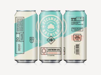 Branding II sycamore brewing beer packaging branding