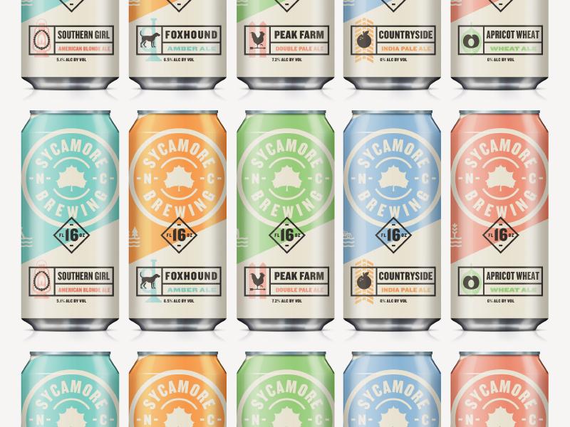 Sycamorebrewing packaging beer branding kendrickkidd3