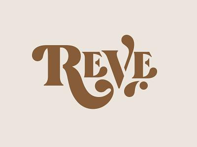 Branding II brewery reve beer lettering branding