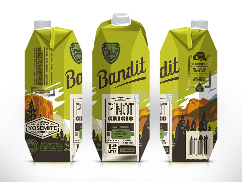 Packaging boxed wine shepherd bandit wines packaging