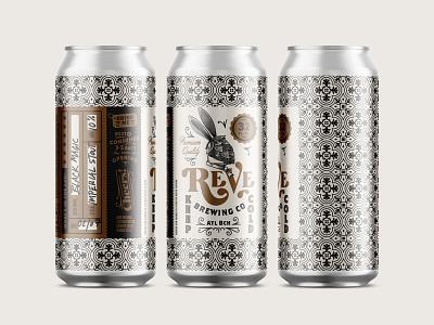 Reve brewing craft beer crowler label design kendrickkidd