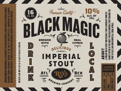 Bottle Label brewery reve beer label bottle branding