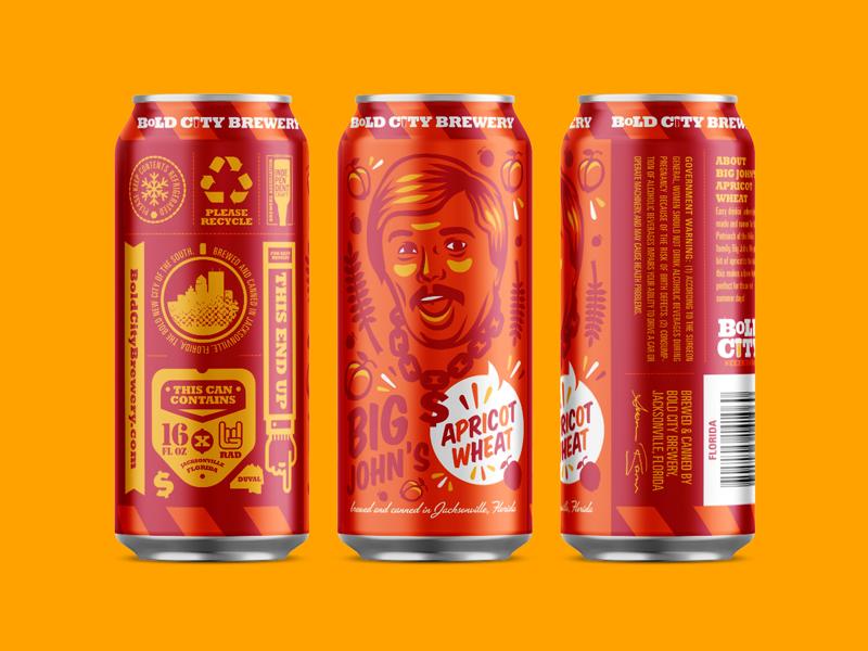 Boldcitybrewery beer can bigjohns packaging design shepherd kendrickkidd