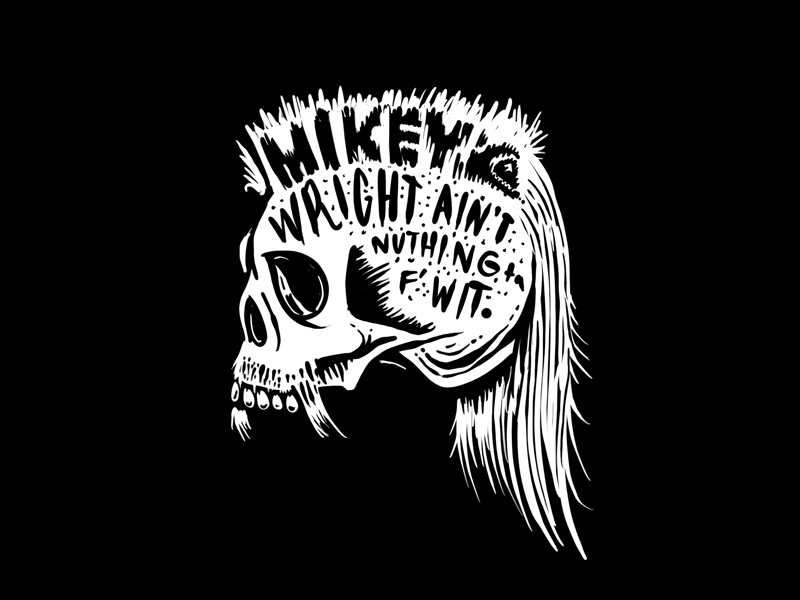 Mikeywright quiksilver wutang skull illustration fanart