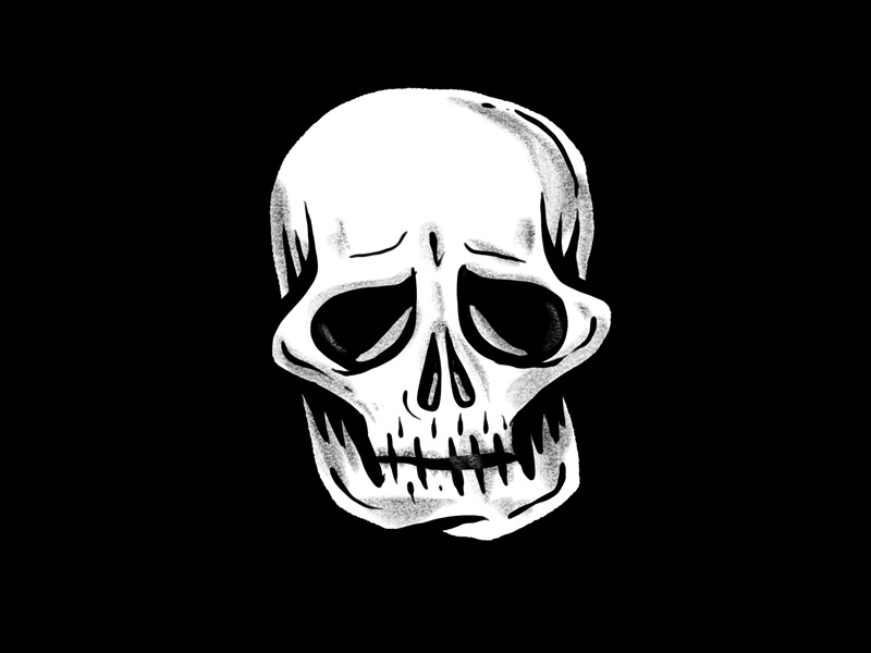 Illustration experiment procreate ipad pro skull