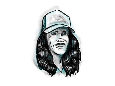 Illustration procreate wife portrait illustration