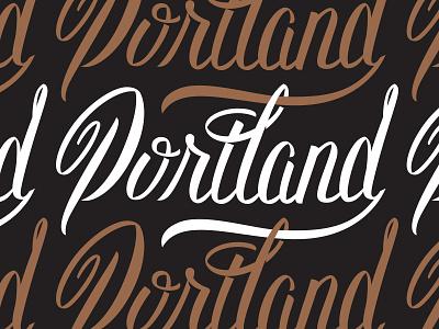 Lettering type portland lettering