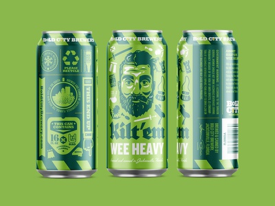 Packaging III illustration can craft beer packaging kiltem bold city brewery