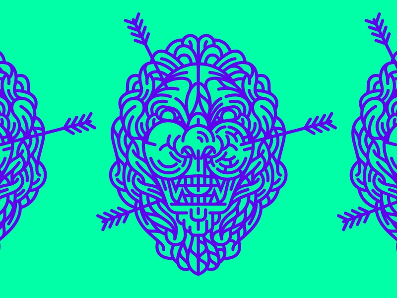 Illustration st augustine lion illustration