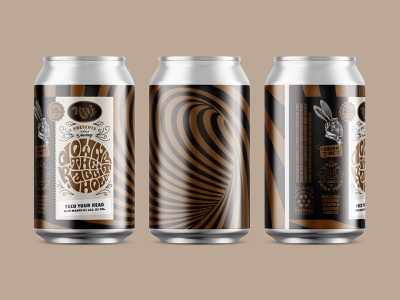 Crowler Label down the rabbit hole label crowler beer reve