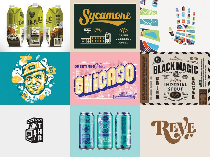 2018 packaging branding illustration lettering design
