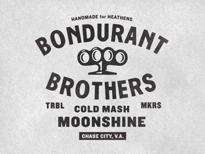 Icon & type time jones bondurant brothers moonshine type icon