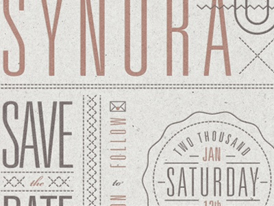 Save The Date wedding invite type