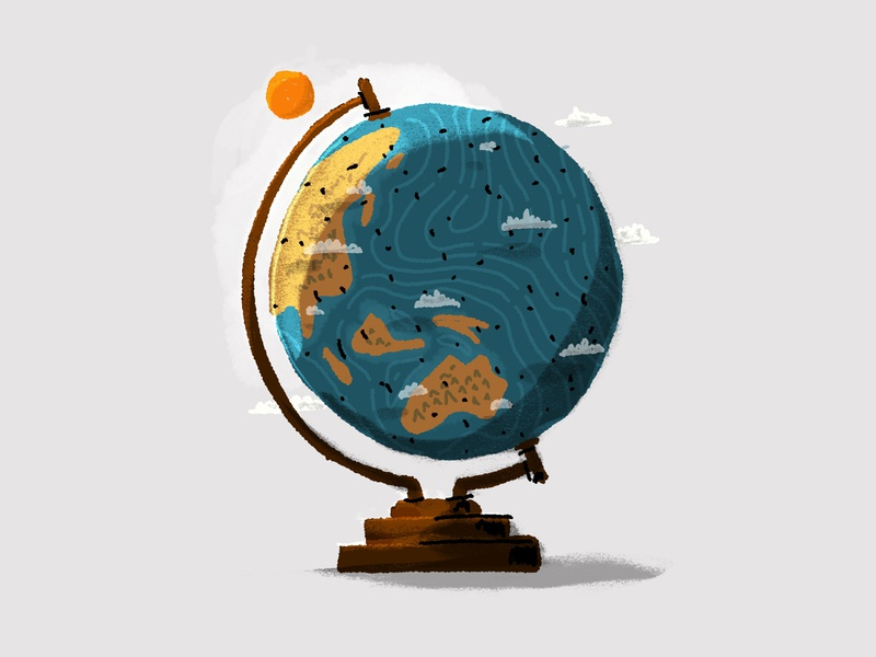 Illustration earth globe illustration