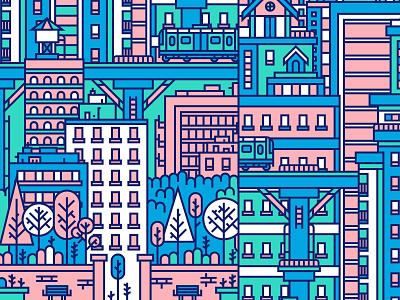 Illustration II packaging color wine city illustration
